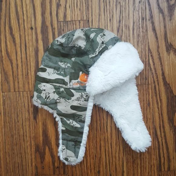5a3e01a44 3/$15 Carharrt Warm Baby Hat Camo Faux Fur Lined